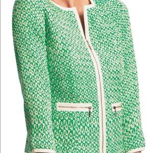 EUC CAbi Spring Jacket Cropped Green 12 Large Lg